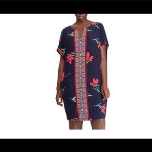 Women's plus chaps Floral & mosaic shift dress NWT